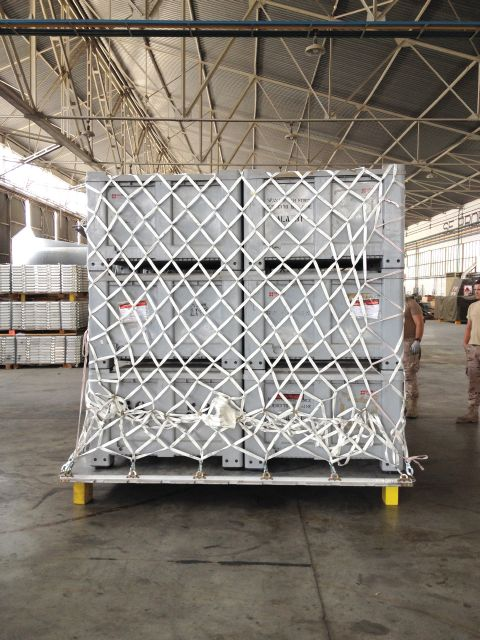 Cargo net for HCU 6-Pallet