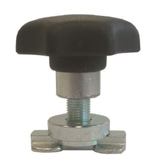 Stud with screw and ergonomic plastic handle