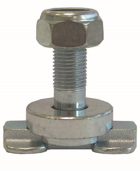 Stud with screw and nut